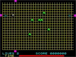In game image of Grid Run And Pontoon on the Sinclair ZX Spectrum.