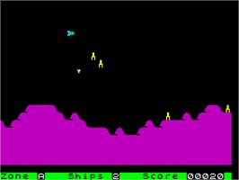 In game image of Ground Attack on the Sinclair ZX Spectrum.