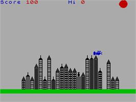 In game image of Ground Force Zero on the Sinclair ZX Spectrum.