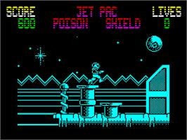 In game image of Gunrunner on the Sinclair ZX Spectrum.
