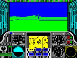 In game image of Gunship on the Sinclair ZX Spectrum.