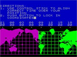 In game image of Hacker on the Sinclair ZX Spectrum.