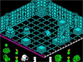 In game image of Head Over Heels on the Sinclair ZX Spectrum.