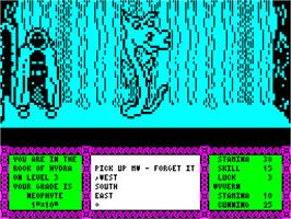 In game image of Heavy on the Magick on the Sinclair ZX Spectrum.
