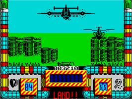 In game image of Hellfire Attack on the Sinclair ZX Spectrum.