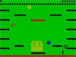 In game image of Hercules: Slayer of the Damned on the Sinclair ZX Spectrum.