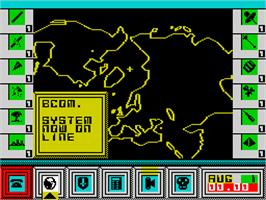 In game image of High Frontier on the Sinclair ZX Spectrum.