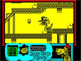 In game image of Hong Kong Phooey: No.1 Super Guy on the Sinclair ZX Spectrum.