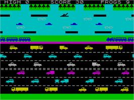 In game image of Hopper on the Sinclair ZX Spectrum.