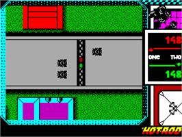 In game image of Hot Rod on the Sinclair ZX Spectrum.