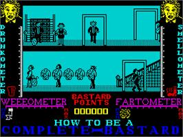 In game image of How to be a Complete Bastard on the Sinclair ZX Spectrum.