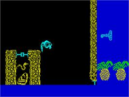 In game image of How to be a Hero on the Sinclair ZX Spectrum.