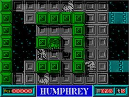 In game image of Humphrey on the Sinclair ZX Spectrum.