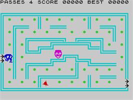 In game image of Hungry Horace on the Sinclair ZX Spectrum.