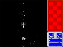 In game image of Hyperbowl on the Sinclair ZX Spectrum.