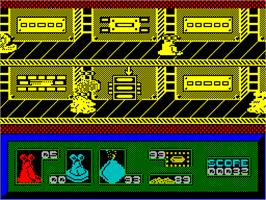 In game image of I-Alien on the Sinclair ZX Spectrum.
