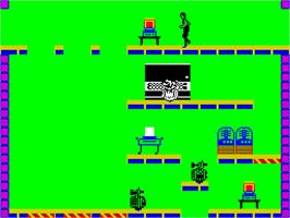 In game image of Impossible Mission on the Sinclair ZX Spectrum.