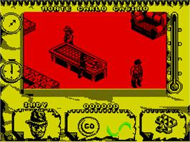 In game image of Indiana Jones and The Fate of Atlantis: The Action Game on the Sinclair ZX Spectrum.