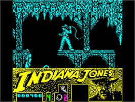 In game image of Indiana Jones and the Last Crusade: The Action Game on the Sinclair ZX Spectrum.