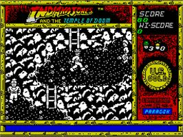 In game image of Indiana Jones and the Temple of Doom on the Sinclair ZX Spectrum.