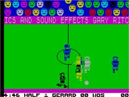 In game image of Indoor Soccer on the Sinclair ZX Spectrum.