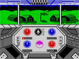In game image of Infiltrator on the Sinclair ZX Spectrum.