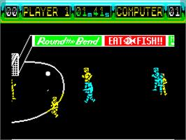 In game image of International 5-A-Side on the Sinclair ZX Spectrum.