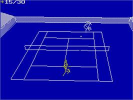 In game image of International Tennis on the Sinclair ZX Spectrum.