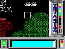 In game image of Invasion on the Sinclair ZX Spectrum.