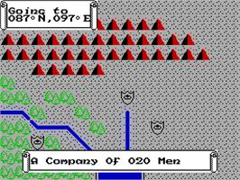 In game image of J.R.R. Tolkien's War in Middle Earth on the Sinclair ZX Spectrum.