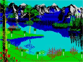 In game image of Jack Charlton's Match Fishing on the Sinclair ZX Spectrum.