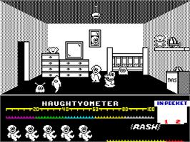 In game image of Jack the Nipper on the Sinclair ZX Spectrum.