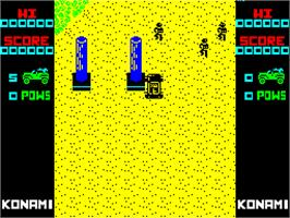 In game image of Jackal on the Sinclair ZX Spectrum.