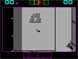 In game image of Jai Alai on the Sinclair ZX Spectrum.