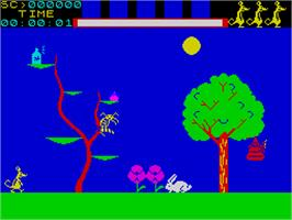 In game image of Jasper! on the Sinclair ZX Spectrum.