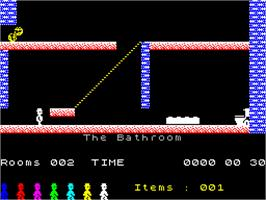 In game image of Jet Set Willy II: The Final Frontier on the Sinclair ZX Spectrum.