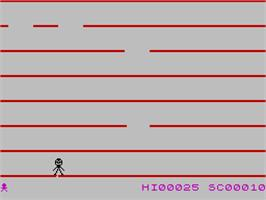 In game image of Jumping Jack on the Sinclair ZX Spectrum.