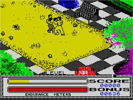 In game image of Kick Boxing on the Sinclair ZX Spectrum.