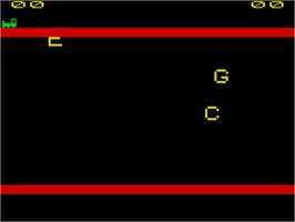 In game image of Kids on Keys on the Sinclair ZX Spectrum.