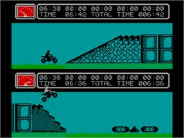 In game image of Kikstart 2 on the Sinclair ZX Spectrum.