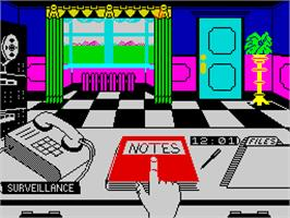 In game image of Killed Until Dead on the Sinclair ZX Spectrum.