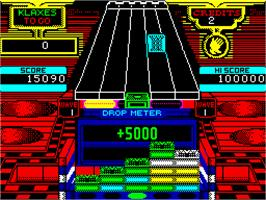 In game image of Klax on the Sinclair ZX Spectrum.
