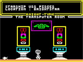 In game image of Knight Tyme on the Sinclair ZX Spectrum.