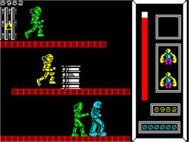 In game image of Knuckle Busters on the Sinclair ZX Spectrum.