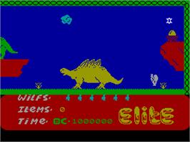In game image of Kokotoni Wilf on the Sinclair ZX Spectrum.