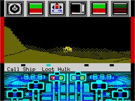 In game image of Koronis Rift on the Sinclair ZX Spectrum.