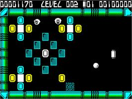In game image of Krakout on the Sinclair ZX Spectrum.