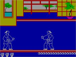 In game image of Kung Fu on the Sinclair ZX Spectrum.