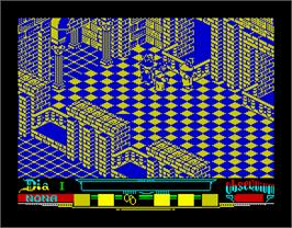 In game image of La Abadía del Crimen on the Sinclair ZX Spectrum.