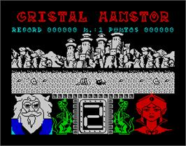 In game image of La Corona Mágica on the Sinclair ZX Spectrum.